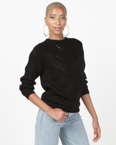 Utopia Interest Knitwear Jumper Black