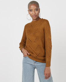 Utopia Interest Knitwear Jumper Camel