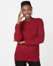 Utopia Interest Knitwear Jumper Red