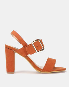 Utopia Block Heel Sandal Tan