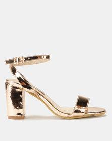Utopia Patent Heel Sandal Rose Gold