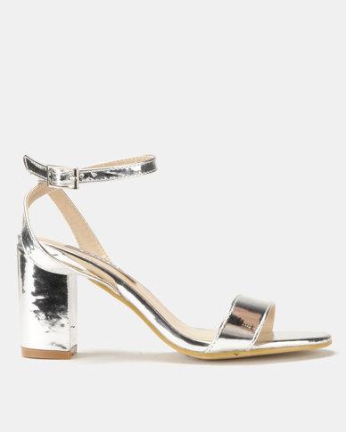 Utopia Patent Heel Sandal Silver