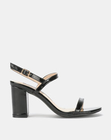Utopia Barely There Block Heels Black