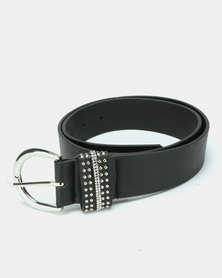 Queenspark Keeper Belt With Mini Stud Detail Black