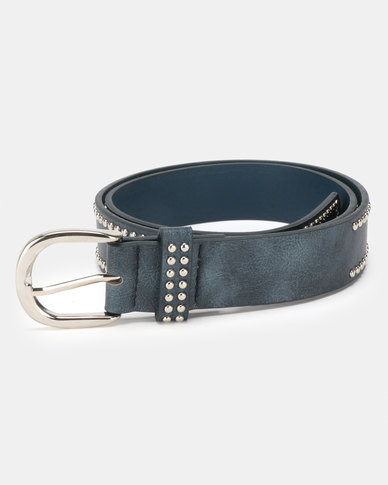 Queenspark Mini Stud on Outer Edge of Belt Navy
