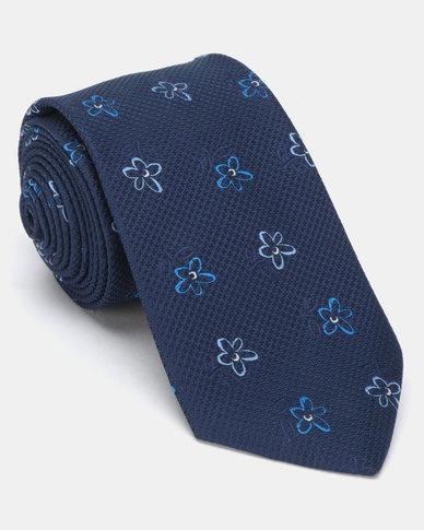 JCrew Floral Tie Navy