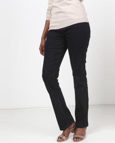 Queenspark Bootleg Core Programme Woven Denim Jeans Indigo