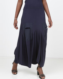 Queenspark Maxi Knitted Skirt Navy