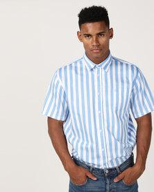 JCrew Stripe Shirt Blue