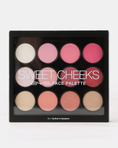 BYS Sweet Cheeks Face Palette 12Pc Multi