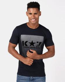 K Star 7 Disco T-Shirt Navy