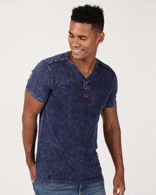 K Star 7 Lee T-Shirt Indigo