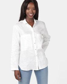 Jenja Pocket Shirt White