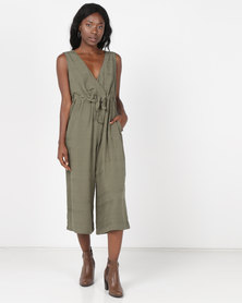 Holly Blue Pantsuit Olive Jaquard