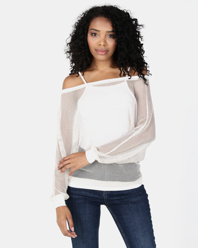 N'Joy 3 Ways To Wear Net Top Stone