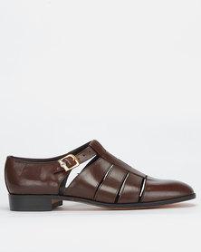 Crockett & Jones Buff Calf Shoes Teak