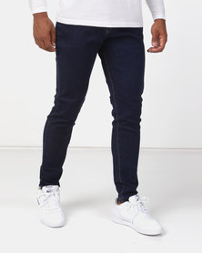 Utopia Basic Skinny Leg Jeans Dark Blue