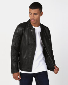 Utopia PU Biker Jacket Black