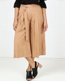 Utopia Belted Culotte Camel