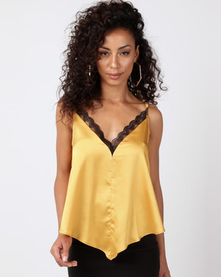 Paige Smith Lace Cami Yellow