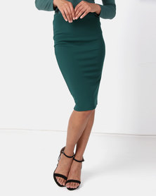 Paige Smith Bodycon Skirt Green