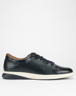 Paul of London Clean Lace Up Sneakers Navy 2e00a93c2