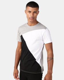 Utopia Colourblock Tee Black/White/Grey