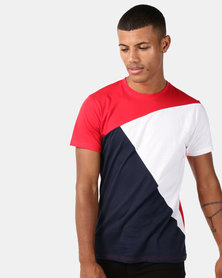 Utopia Colourblock Tee Red/Navy/White