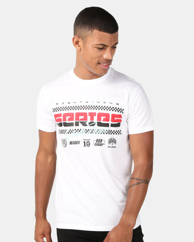 Utopia Racing Print Tee White