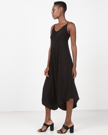 Utopia Knit Harem Jumpsuit Black