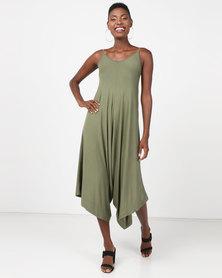 Utopia Knit Harem Jumpsuit Olive