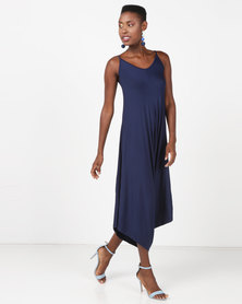 Utopia Knit Harem Jumpsuit Navy