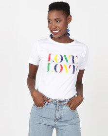 Utopia LOVE Printed Tee White