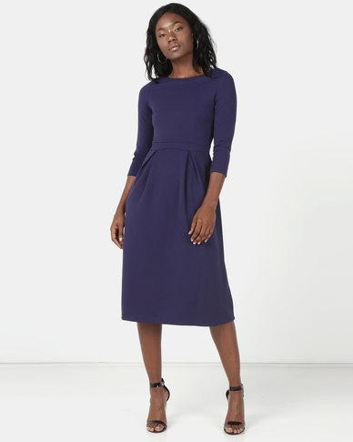 Revenge Mid Length Dress Blue