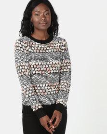 Revenge Patterned Knitted Jersey Multi