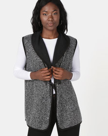 Revenge Sleeveless Jacket Grey