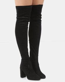 Courtney Cousins Classic Class Thigh High Boots Black