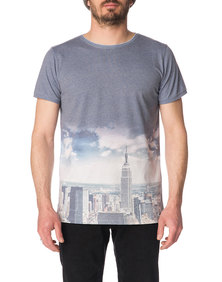 Pullin T-shirt Leap Sky Blue Grey