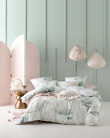 Linen House Shoji Duvet Cover Set Mint