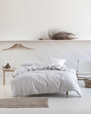8897b38e687 Linen House Oria Duvet Cover Set Grey