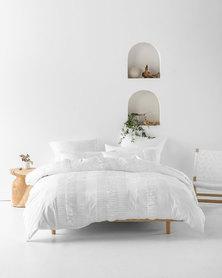 Linen House Almira Duvet Cover Set White