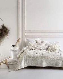 Linen House Anzar Coverlet Set White