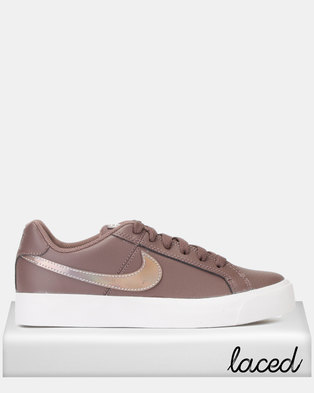 Nike Womens Court Royale AC Sneakers Plum Eclipse Pumice-White ca65ef48dea2