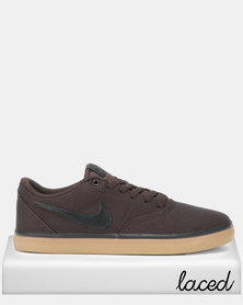 Nike SB Check Solar CNVS Velvet Sneakers Brown