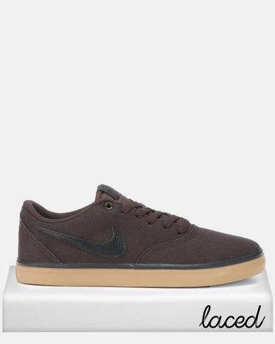 new product dbd97 17abb Nike SB Check Solar CNVS Velvet Sneakers Brown   Zando