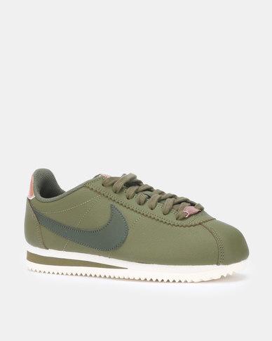 pretty nice 37c50 4737b Nike WMNS Classic Cortez Leather Olive Canvas/Sequoia-Mtlc Sneaker