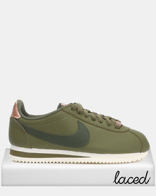 Nike WMNS Classic Cortez Leather Olive Canvas/Sequoia-Mtlc Sneaker