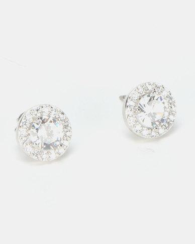 1e6631e75 New Look CZ Sparkle Round Stud Earrings Crystal Multi   Zando