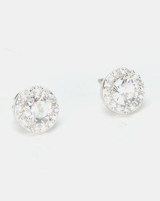 New Look CZ Sparkle Round Stud Earrings Crystal Multi