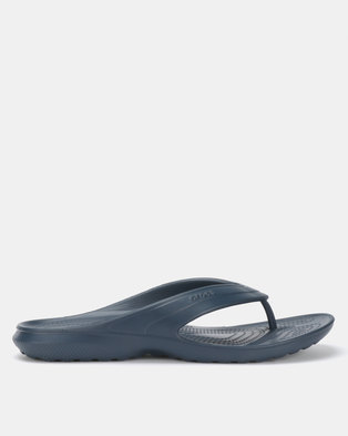 4228c22ea51806 Crocs Classic Flip Flops Navy